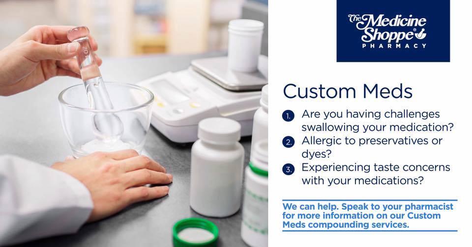 medicine shoppe does compounding for custom meds
